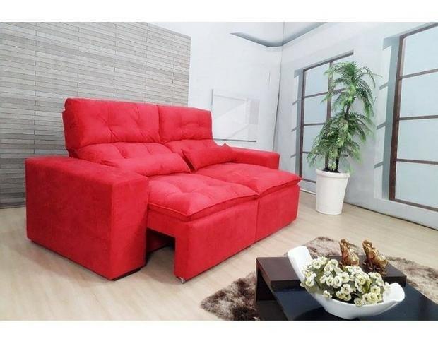 Retrátil e reclinável com pillow - 2.00m de comprimento - Promoção Imperdível - Foto 2