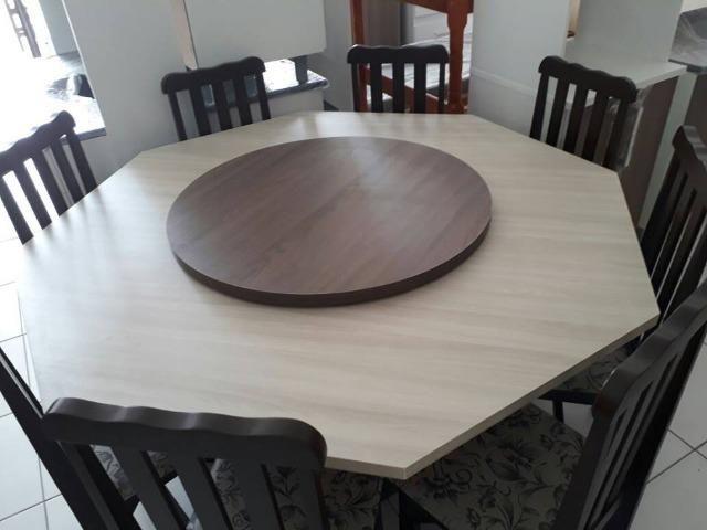 Mesa com 8 cadeiras - novo de fabrica - Foto 5