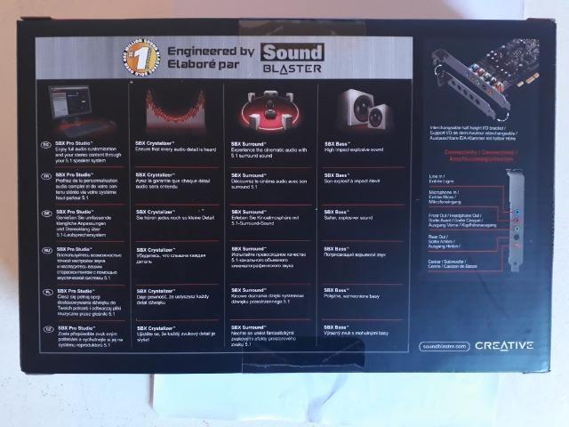 Placa Som Creative Sound Blaster Audigy Fx PciE- novo - Foto 2