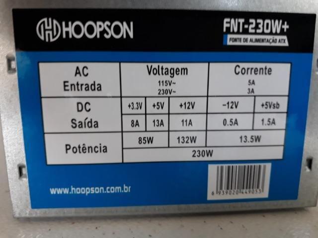 Fonte de pc 230w 120,00 reais