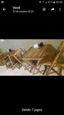 Mesa cadeira madeira