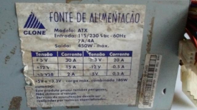 Fonte de alimentação Clone de 450 W