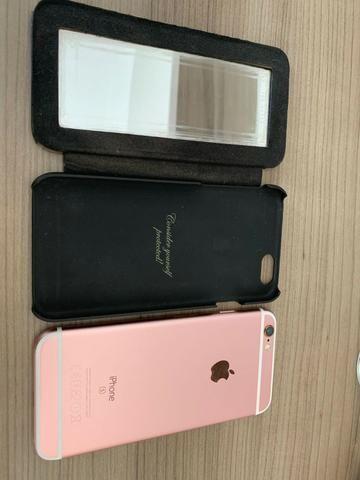 Iphone 6s 128Gb Rose Gold em Perfeito Estado Único Dono - Foto 4