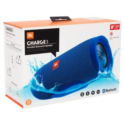 Caixa de Som JBL Charge 3+ Bluetooth Android celular