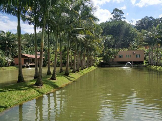 Lindo sitio urbano a menos de 4 km do centro da cidade 3 casas piscina lagoa - Foto 9