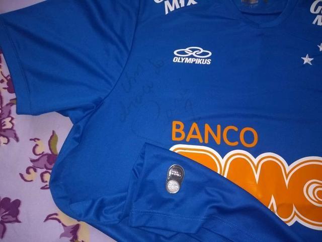 deb41d5a23 Camisa do cruzeiro do jogador ceara c autografo do mesmo - Esportes ...