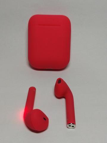 Fone de ouvido Sem Fio Vermelho Bluetooth