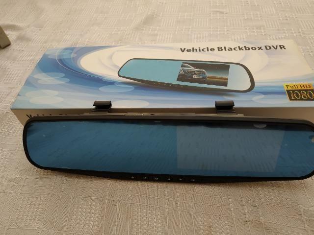 Espelho retrovisor monitor com câmera frontal tela LCD 4.3