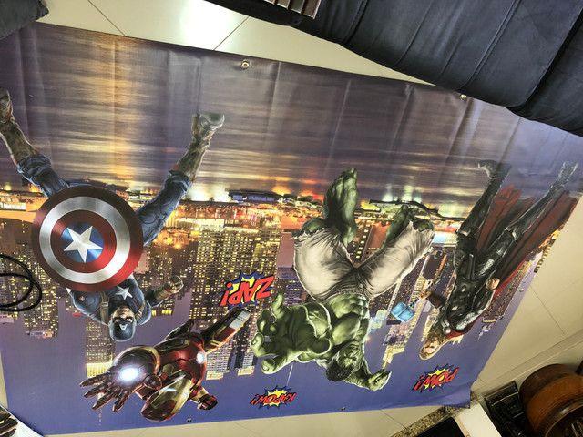 Painel e frente de mesa Vingadores - Foto 3