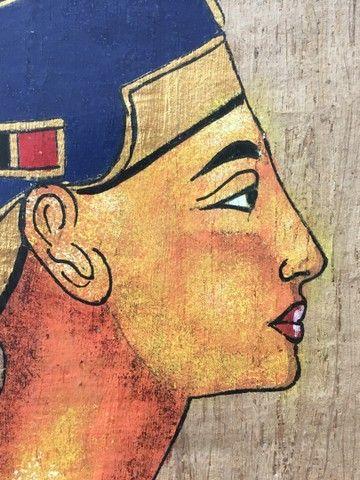 Pintura sobre papiro egípcio genuíno  - Foto 3