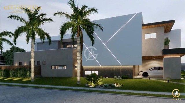 Belíssimo projeto  em um terreno de esquina privilegiado! Condomínio Alphaville Fortaleza - Foto 5
