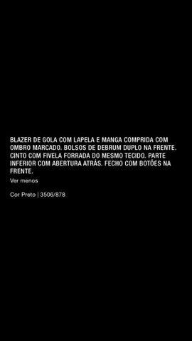 Blazer com cinto Zara  - Foto 6