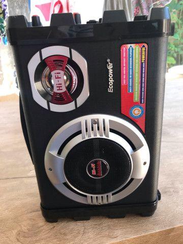 Caixa de som ecopower com microfone e carregador  - Foto 2
