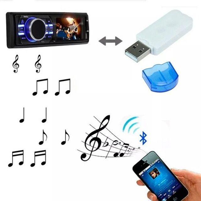 Adaptador Receptor Bluetooth 2.0 Usb Pendrive Carro Musica - Foto 4