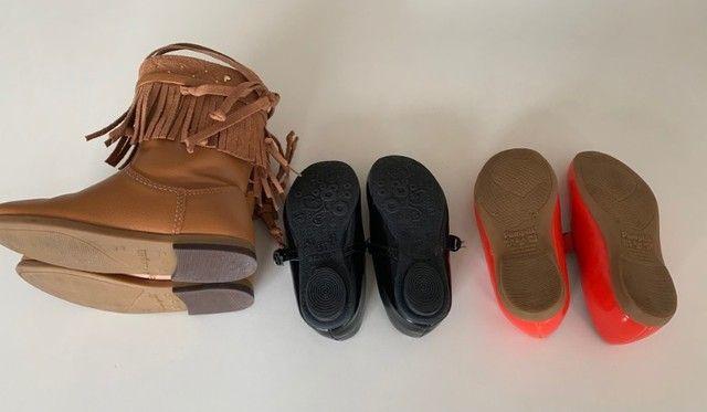 Kit com 03 sapatos Infantil Meninas - Tam. 26 - Foto 3