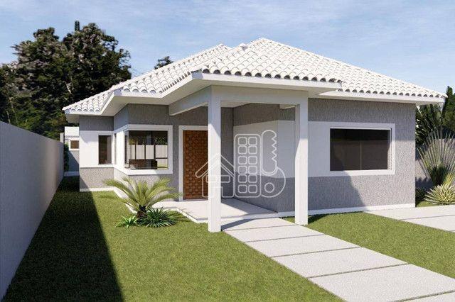 Casa com 3 dormitórios à venda, 100 m² por R$ 495.000,00 - Jardim Atlântico Leste (Itaipua