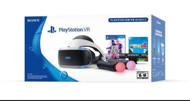 Óculos VR ZVR2 Ps4 completo + 2 jogos  - Foto 2