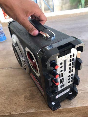 Caixa de som ecopower com microfone e carregador  - Foto 5
