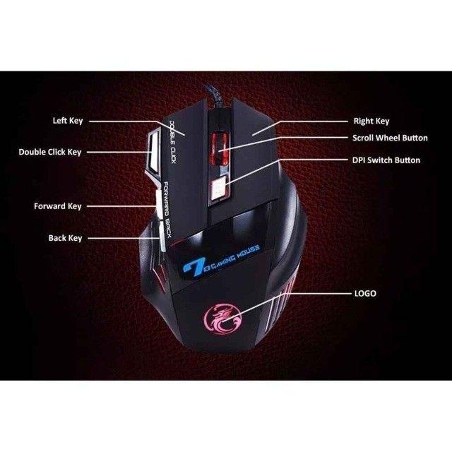Mouse GamerX7 7Botões LED rgb 3600dpi - Foto 3