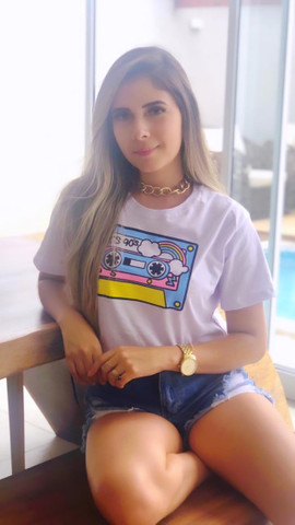 Blusas Femininas T-Shirt Feminina - Foto 4