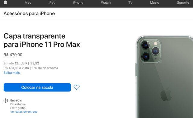 Acessórios para iPhone - Cases Original iPhone 11 Pro Max - Foto 5