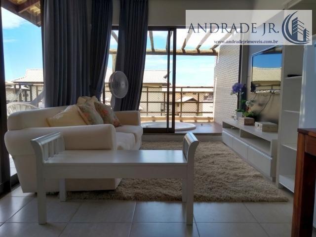 Apartamento cobertura duplex no Beach Place no Porto das Dunas, mobiliado e decorado