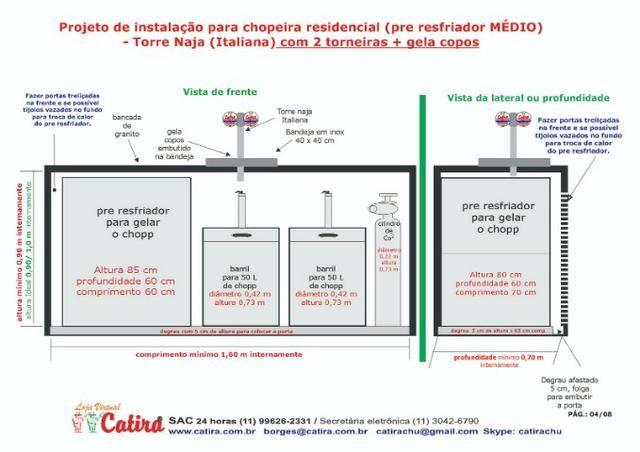Chopeira Naja 2 torneiras congelada e completa instalada sp-Capital - Foto 5