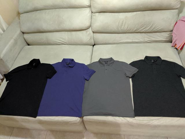Camisa Hugo Boss 100% originais m g gg - Foto 2