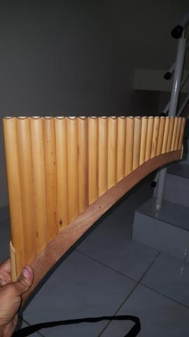 Flauta pan do maior de banbu com bolsa