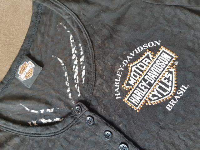 Baby-Look Harley-Davidson preta - original - Foto 2