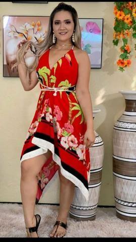 Vestido ponta, colorido, diversas cores
