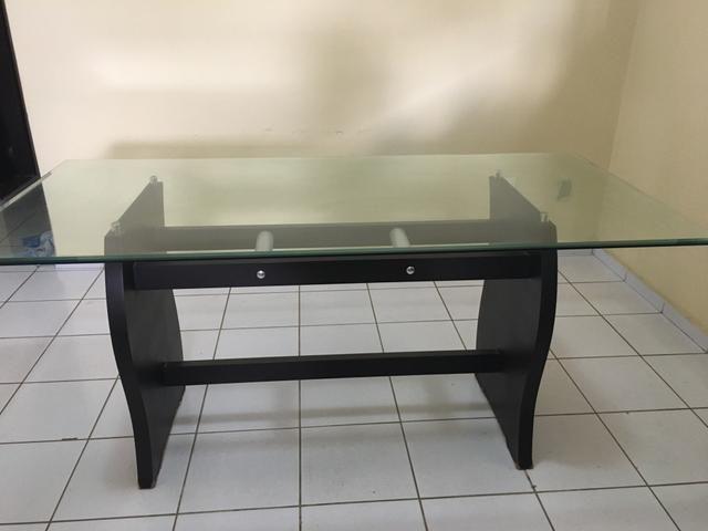 Mesa com tampo de vidro - Foto 2