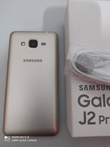 J2 prime 16 gb na caixa