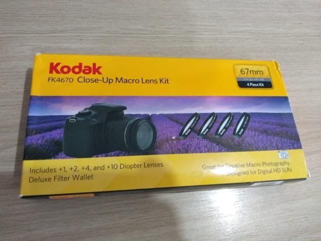 Kit Lente Close-up Para Macro Câmera 67mm +1 +2 +4 +10 Kodak - Foto 2