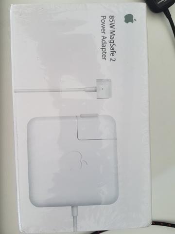 Apple 85w magsafe2 original, novo e lacrado