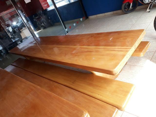 Mesa tipo da madeira garapeira - Foto 6