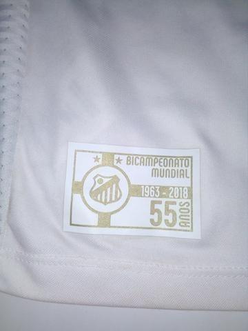 Camisa Santos branca Umbro 2018 - Foto 5