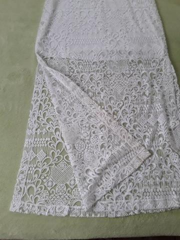 Vestido longo branco fendas nas laterais Tam. P - Foto 4