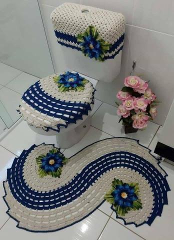 Jogo de banheiro de crochê - Foto 4
