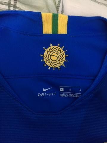 Camisa Seleção Brasileira Oficial Tam G - Foto 3