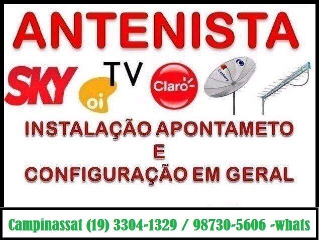 Instalação de Antenas em Geral(19) 98730-5606
