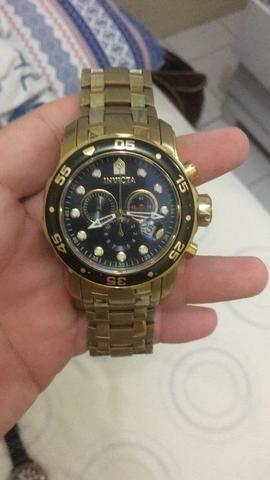 fbf7766794622 Relógio invicta original banhado a ouro - Bijouterias