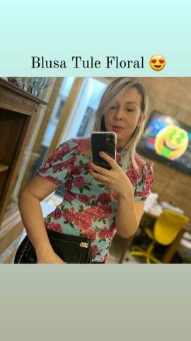 Blusa de Tule Floral