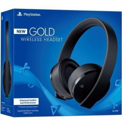 Headset Sony New Gold 7.1 Wireless Ps4 Original, Melhor preço!!