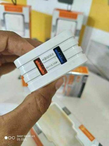 Carregador pra smartphone Samsung, LG, Motorola e Xiaomi  - Foto 3