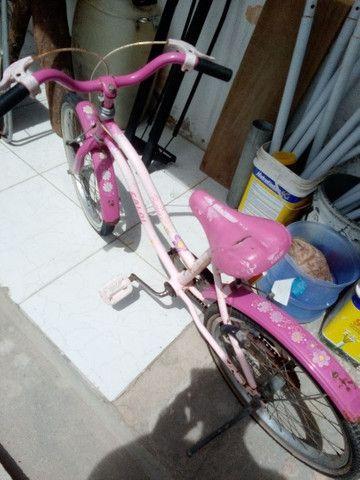Baixei Bicicleta Caloi Barbie - Foto 2