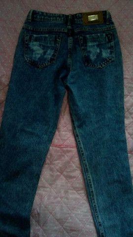 Calça jeans, cintura alta, marca: 23 graus - Foto 2