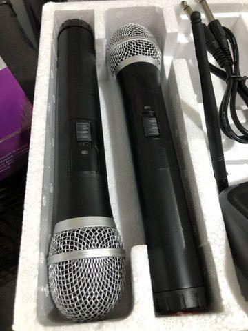 Microfone sem fio UHF KSR 002-D HT mão + mão, duplo - Foto 4