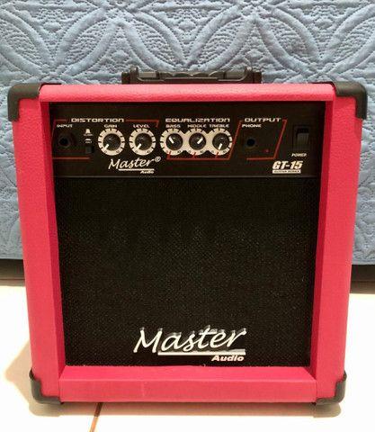 Guitarra - Marca: EAGLE. + Amplificador de som - Marca: Master Áudio  - Foto 5
