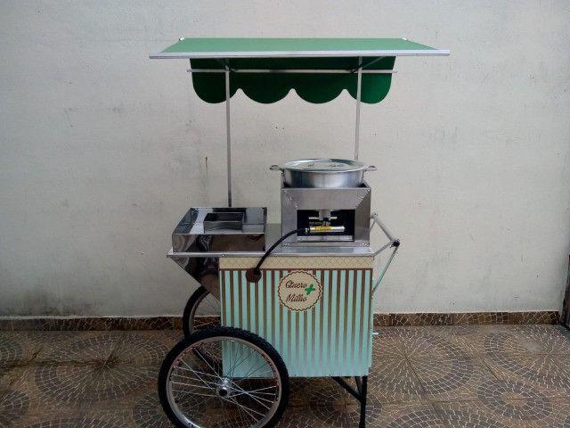 Carrinho para milho mod.  retrô idealmaq p/ delivery / garagem